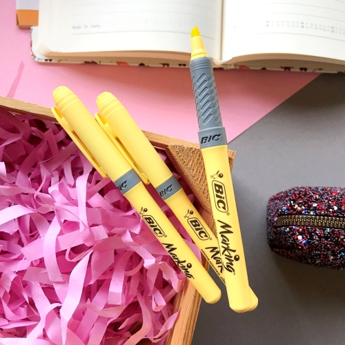 Bic Marking Highlighter Grip Pastel - Sarı