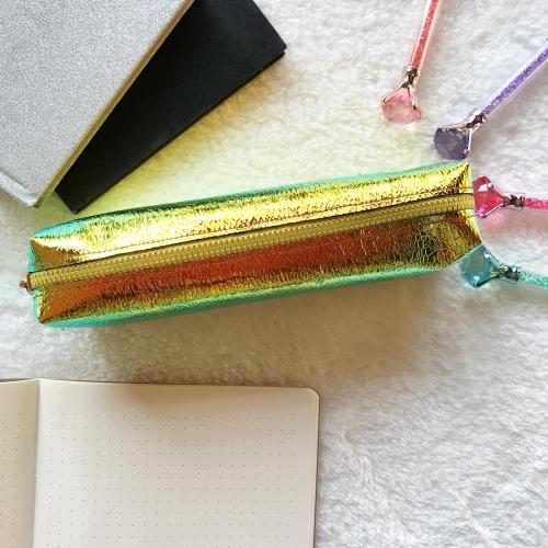 Hologram İzli Kalem Kutu - Sarı