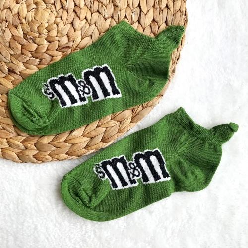 M&Ms Desenli Bilek Çorap