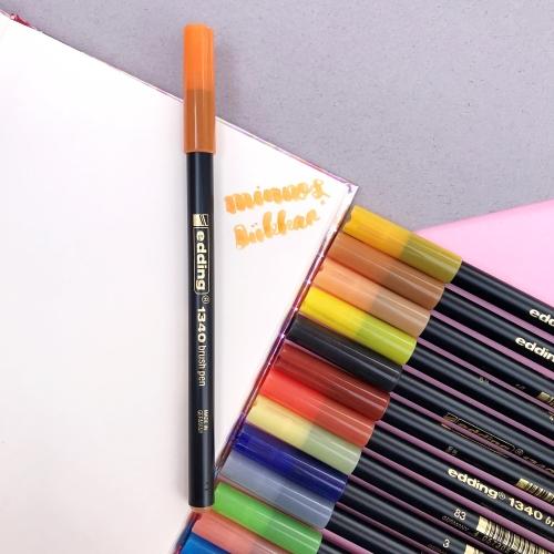 Edding 1340 Brush Pen Fırça Uçlu Keçeli Kalem - 6 Turuncu
