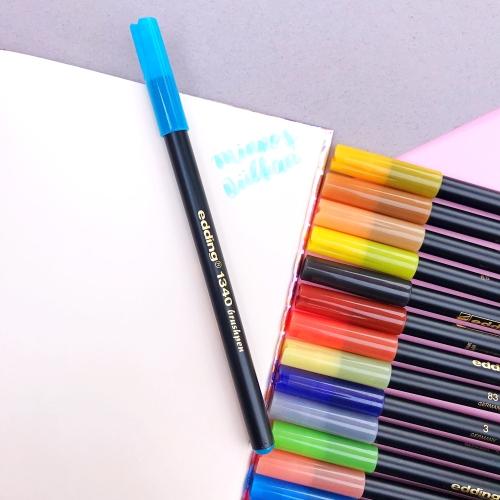 Edding 1340 Brush Pen Fırça Uçlu Keçeli Kalem - 85 Gök Mavisi