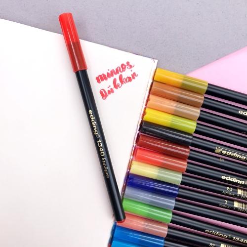 Edding 1340 Brush Pen Fırça Uçlu Keçeli Kalem - 2 Kırmızı