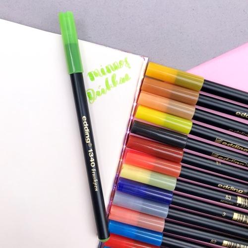 Edding 1340 Brush Pen Fırça Uçlu Keçeli Kalem - 11 Açık Yeşil
