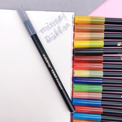 Edding 1340 Brush Pen Fırça Uçlu Keçeli Kalem - 26 Gümüş