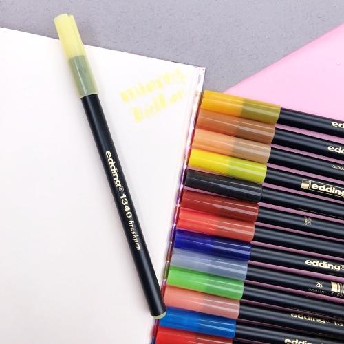 Edding 1340 Brush Pen Fırça Uçlu Keçeli Kalem - 83 Kış Kavunu