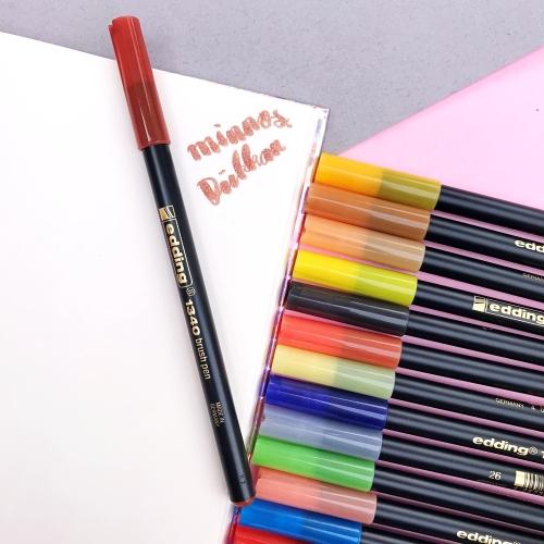 Edding 1340 Brush Pen Fırça Uçlu Keçeli Kalem - 7 Kahverengi
