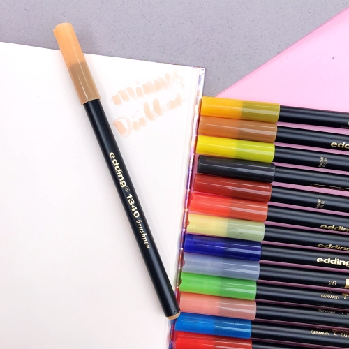 Edding 1340 Brush Pen Fırça Uçlu Keçeli Kalem - 16 Açık Turuncu