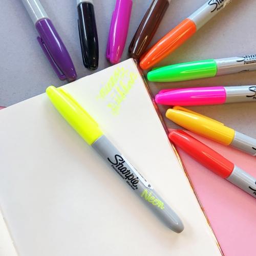 Sharpie Neon Renk Permanent Marker - Sarı