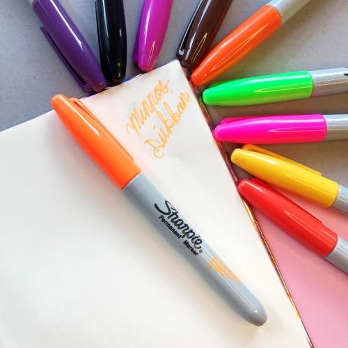 Sharpie Neon Renk Permanent Marker - Turuncu