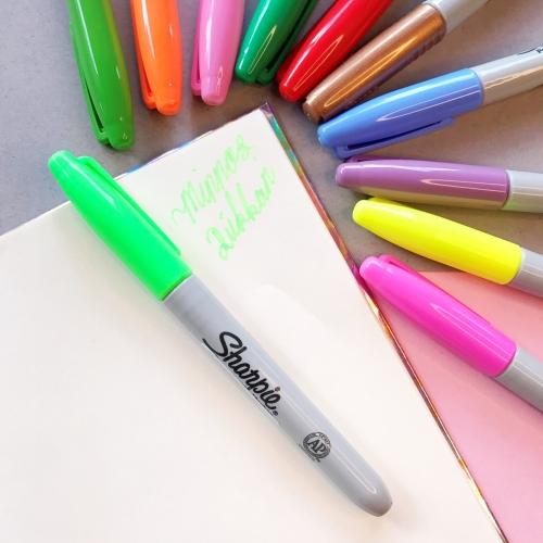 Sharpie Neon Renk Permanent Marker - Yeşil