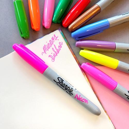 Sharpie Neon Renk Permanent Marker - Pembe
