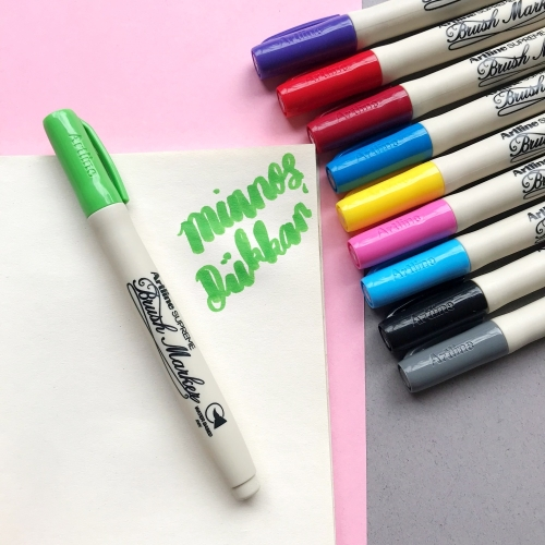 Artline Supreme Brush Marker Y. Green - Açık Yeşil