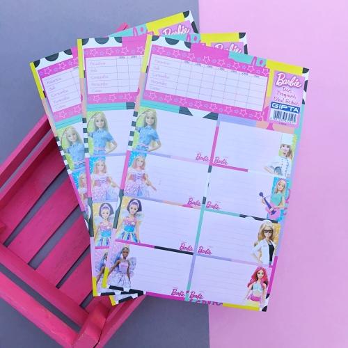 Barbie Ders Programlı 8li Okul Etiketi Seti