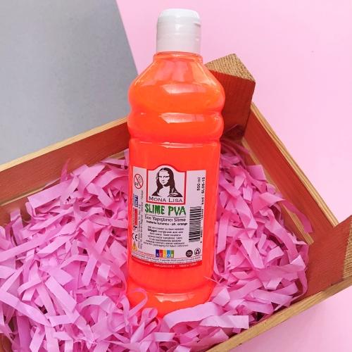 Mona Lisa Fosforlu 500 Ml Slime Yapıştırıcısı - Fosforlu Turuncu