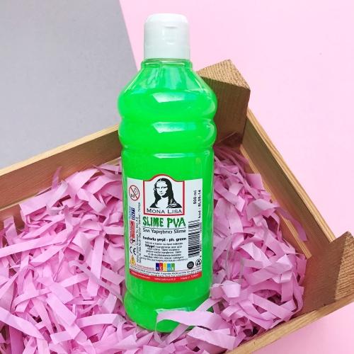 Mona Lisa Fosforlu 500 Ml Slime Yapıştırıcısı - Fosforlu Yeşil