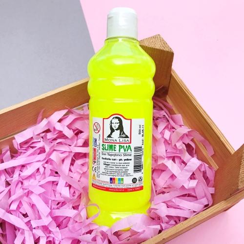 Mona Lisa Fosforlu 500 Ml Slime Yapıştırıcısı - Fosforlu Sarı