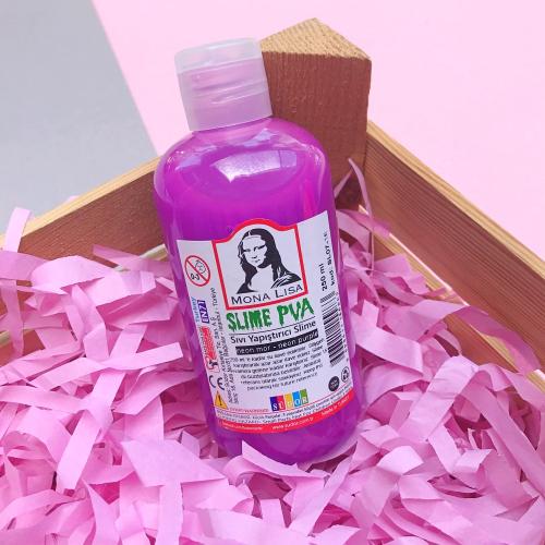 Mona Lisa Fosforlu 250 Ml Slime Yapıştırıcısı - Neon Mor
