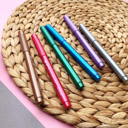 Gıpta Metalik Keçeli Kalem 6 Renk