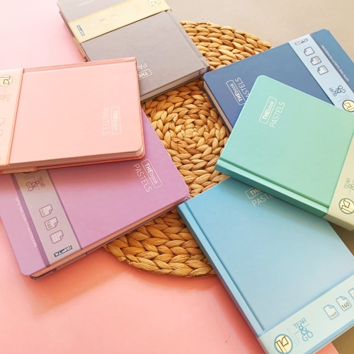 TheBook Pastels Kalın Kapak Çizgili 160 Yaprak Defter 14X20 cm