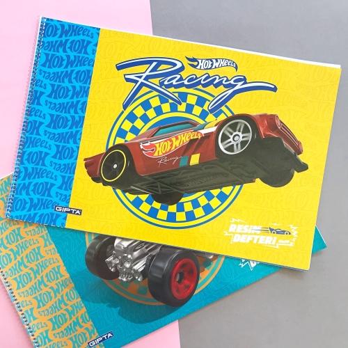 Hot Wheels 35x50 15 Yaprak Resim Defteri