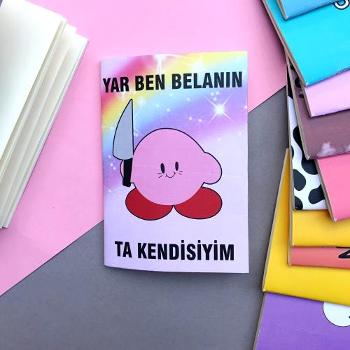 Belalı Kirby A5 Defter