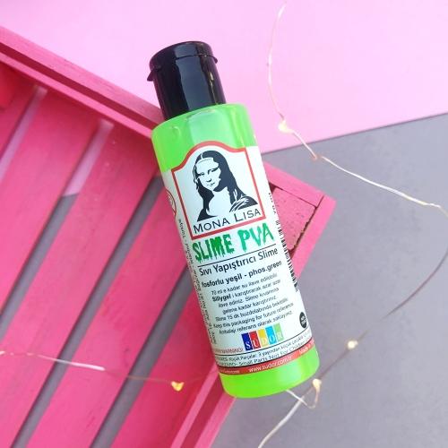 Mona Lisa Fosforlu Slime Yapıştırıcısı - Yeşil