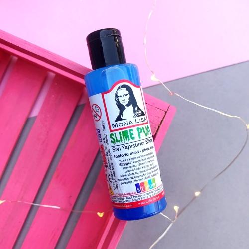 Mona Lisa Fosforlu Slime Yapıştırıcısı - Mavi