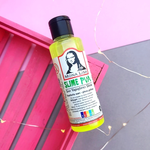 Mona Lisa Fosforlu Slime Yapıştırıcısı - Sarı