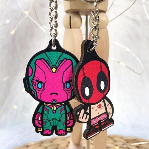 Marvel Kahramanları Ahşap Anahtarlık