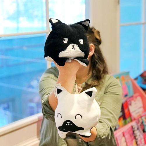 Kedi Mod Değiştiren Yastık - Siyah Beyaz