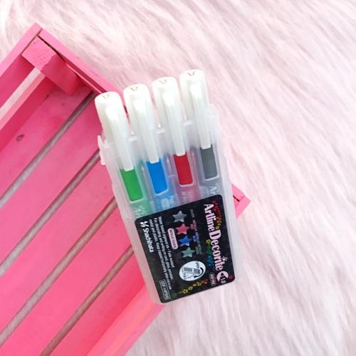 Artline Decorite 1.0 mm Uçlu Markör Seti - Metalik Ana Renkler