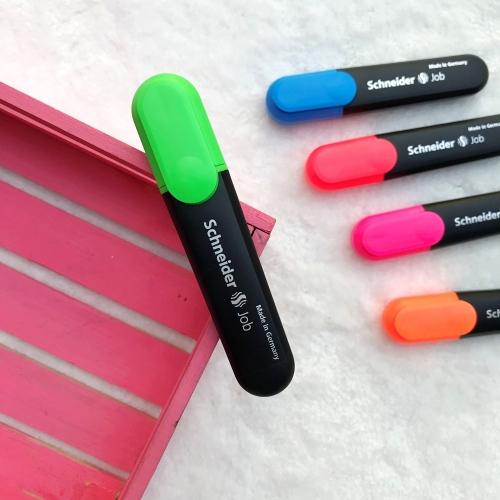 Schneider Job Fosforlu İşaretleme Kalemi - Yeşil