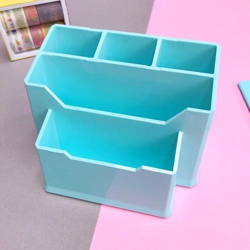 Pastel Renk 5 Gözlü Masaüstü Organizer - Mint