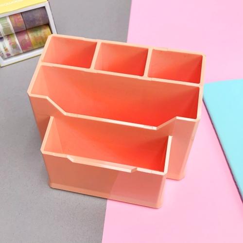 Pastel Renk 5 Gözlü Masaüstü Organizer - Somon