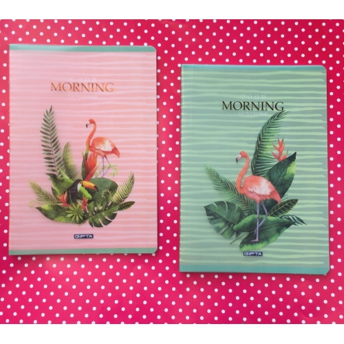 Morning Flamingo Pp Kapak Kareli Defter