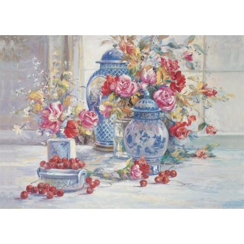 Puzz 500 Parça Puzzle - Kiraz ve Çiçekler
