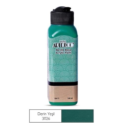 Artdeco Akrilik Boya 140 ML Derin Yeşil - 3026