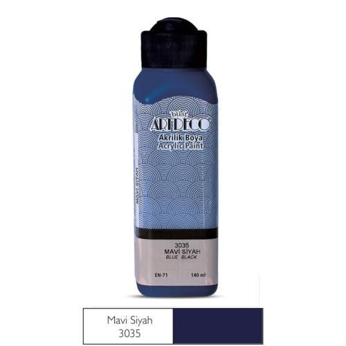 Artdeco Akrilik Boya 140 ML Mavi  Siyah - 3035