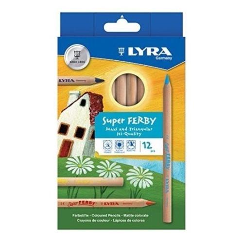 Lyra Super Ferby Maxi 6.3 mm Naturel 12'li Kuru Boya Seti