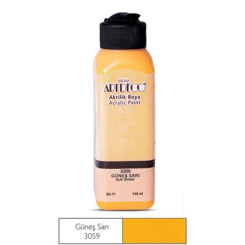 Artdeco Akrilik Boya 140 ML Güneş Sarı - 3059