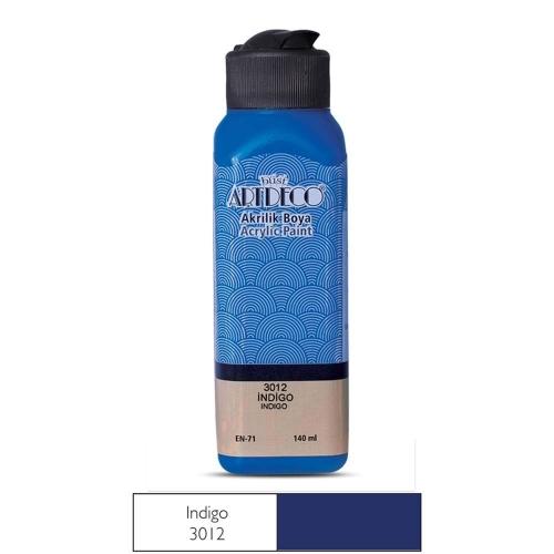 Artdeco Akrilik Boya 140 ML İndigo - 3012