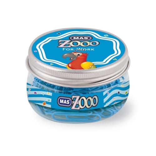 Mas Zoo - Yuvarlak Kutuda Plastik Ataş No:3 Mavi