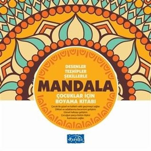 Desenler Çocuklar İçin Mandala Boyama Kitabı Sarı Seri