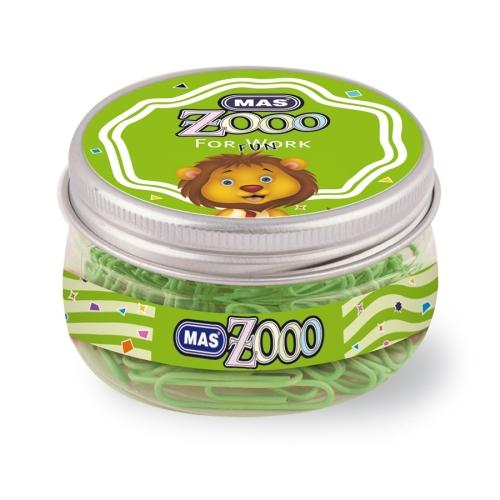 Mas Zoo - Yuvarlak Kutuda Plastik Ataş No:3 Yeşil