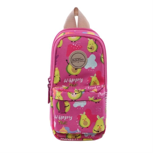 Kaukko Nature Junior Bag Kalem Çantası - Crimson Avocado