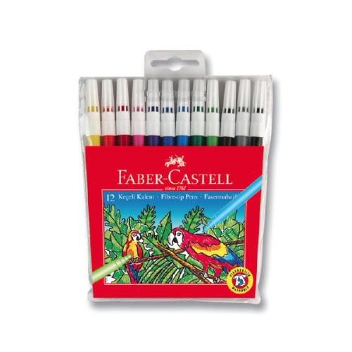 Faber Castell Yıkanabilir Keçeli Kalem 12 Renk
