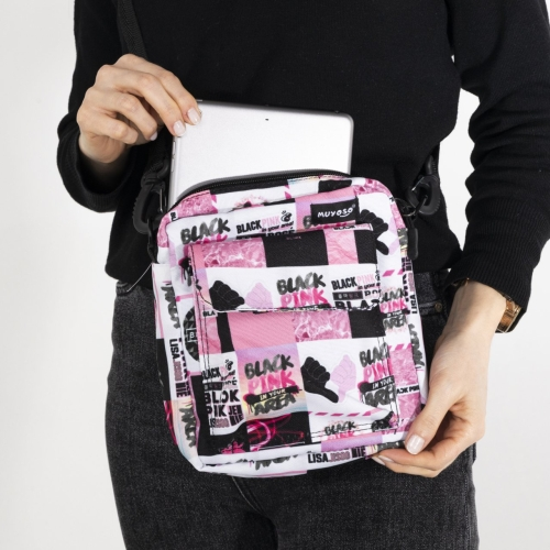 Black Pink Cırt Cırtlı Muyoso Bag