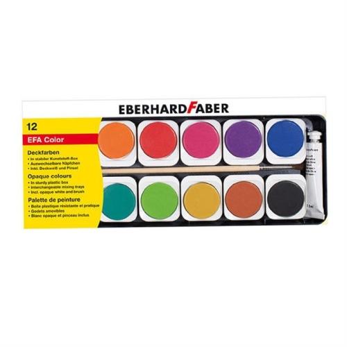 Eberhard Faber Sulu Boya 12 Renk Plastik Kutulu