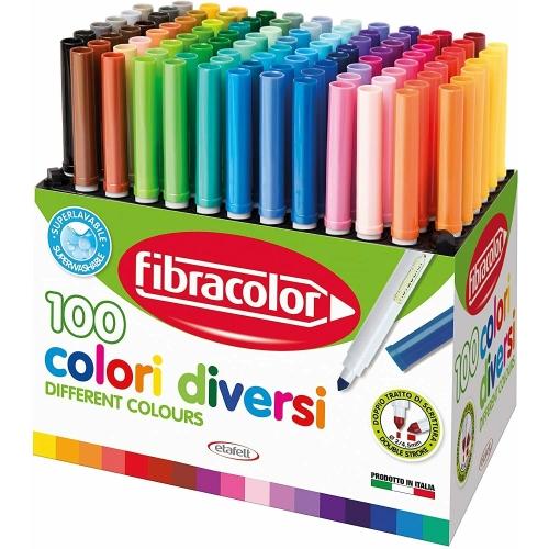 Fibracolor Fiber Pen 100lü Keçeli Kalem Seti
