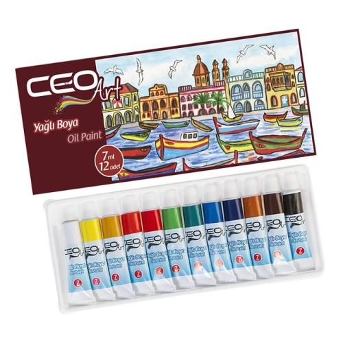CeoArt 12 Renk Yağlı Boya - 7 ml